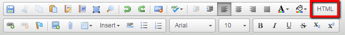 HTML toolbar