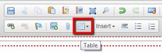 Table toolbar