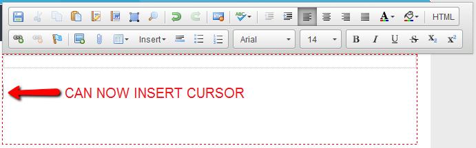 Inserting cursor